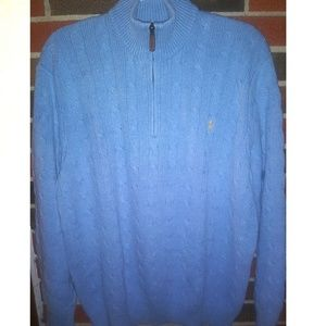 Polo by Ralph Lauren quarter zip 100%  Tussah silk